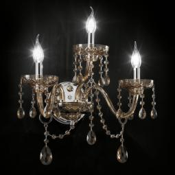 """Cimabue"" venetian crystal wall sconce  - 2+1 lights - Asfour crystal"