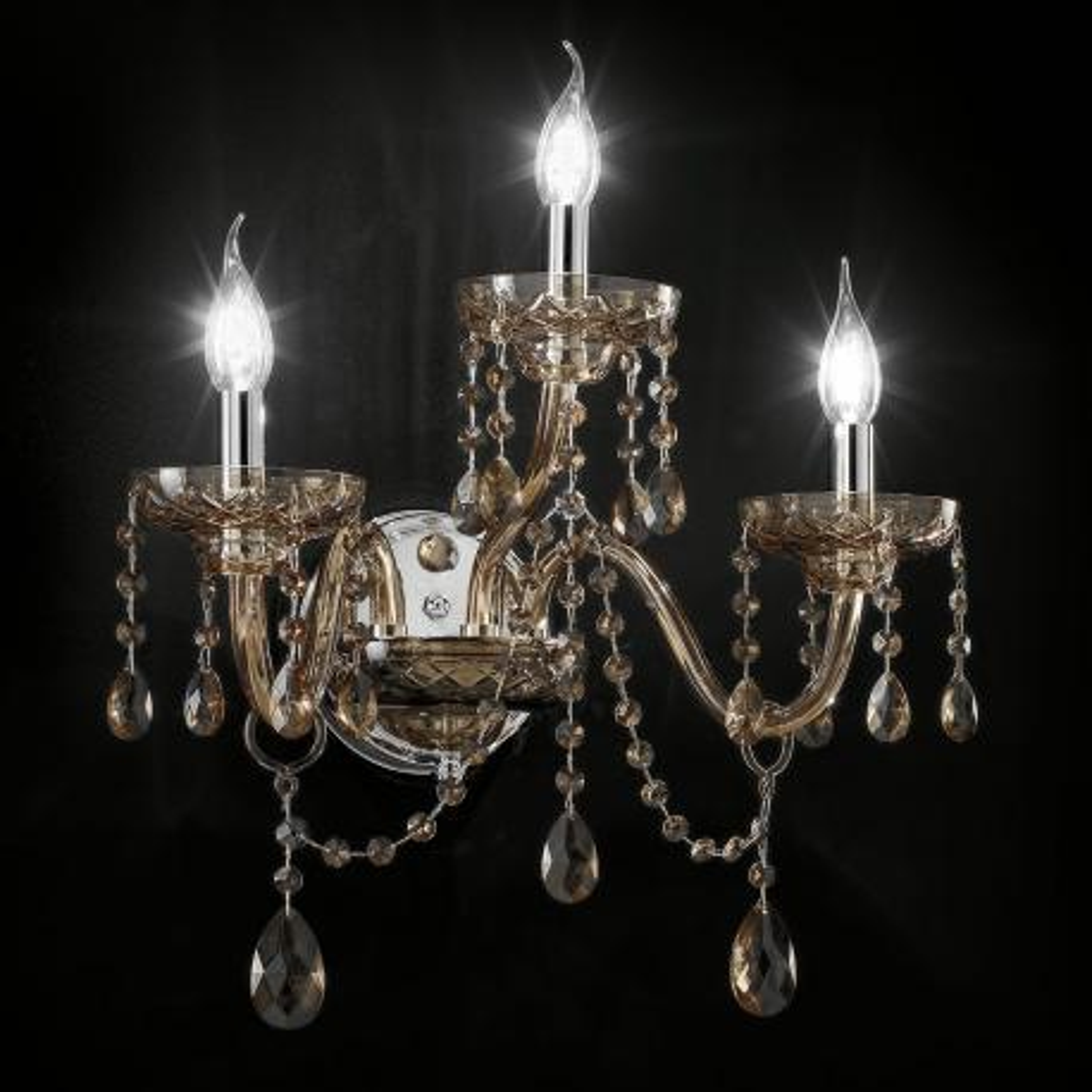 """Cimabue"" aplique veneciano de pared en cristal - 2+1 luces - cristal Asfour"