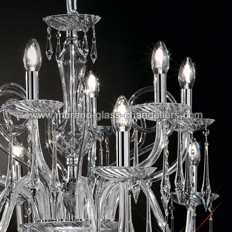 "Murano Glass Chandelier Large: ""Amadeo"" Large Venetian Crystal Chandelier"
