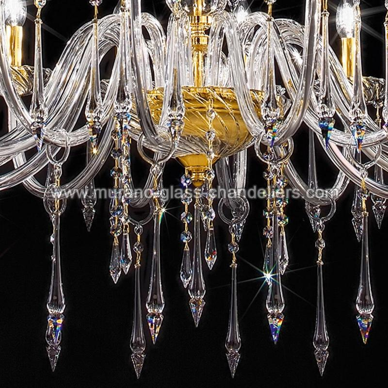 "Small Murano Crystal Chandelier: ""Amadeo"" Large Venetian Crystal Chandelier"