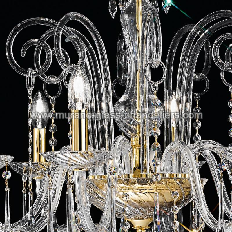"Small Murano Crystal Chandelier: ""Amadeo"" Venetian Crystal Chandelier"