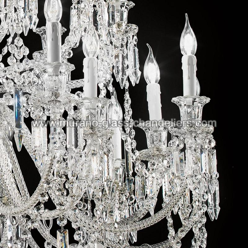 "Murano Glass Chandelier Large: ""Cima"" Large Venetian Crystal Chandelier"