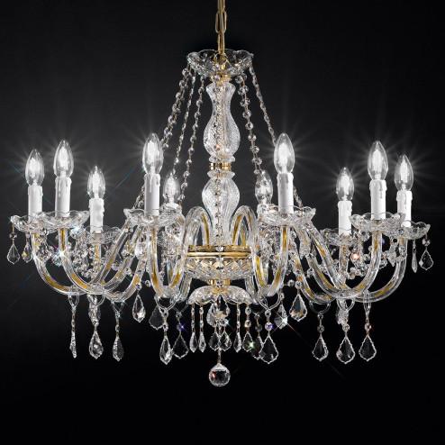 """""""Botticelli"""" lampara veneciana en cristal - 10 luces - transparente con cristal Asfour"""