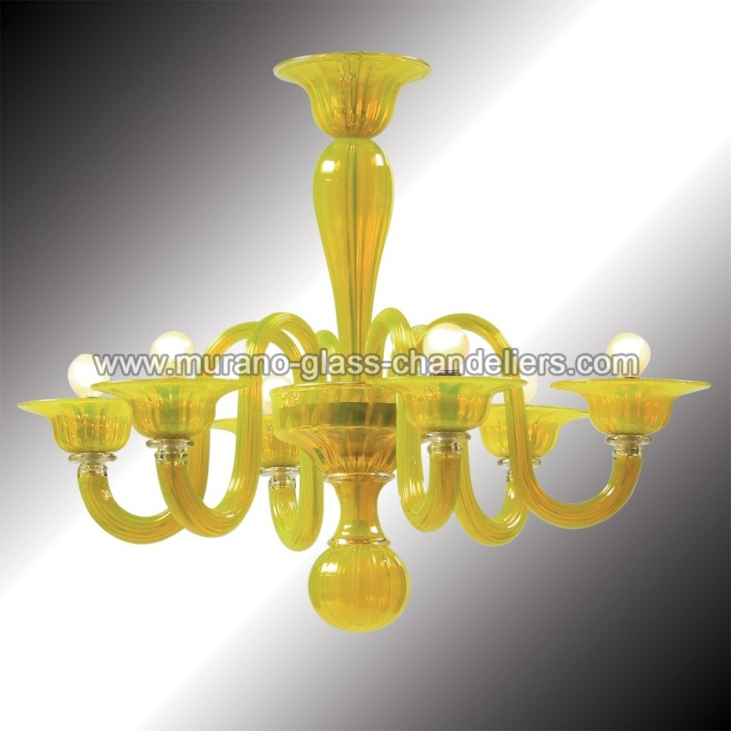 limone lustre en verre de murano jaune murano glass chandeliers. Black Bedroom Furniture Sets. Home Design Ideas