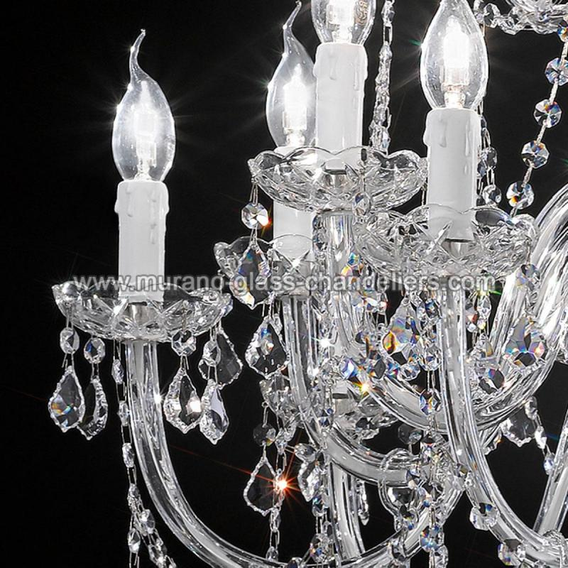 "Small Murano Crystal Chandelier: ""Botticelli"" Large Venetian Crystal Chandelier"