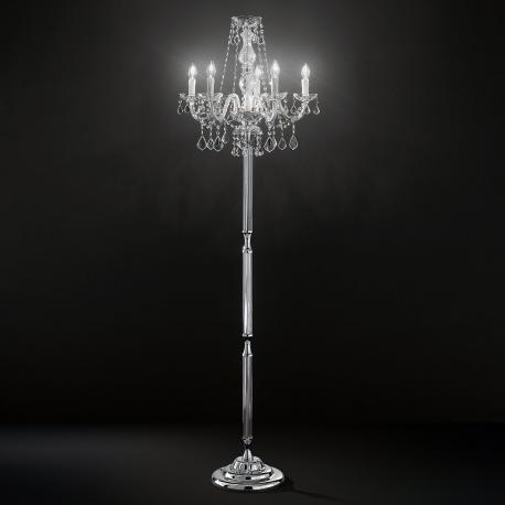 Botticelli Venetian Crystal Floor Lamp 5 Lights Transpa With Asfour