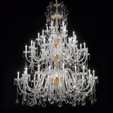 """Veronese"" large venetian crystal chandelier - 20+20+10+5 lights - transparent with Asfour venetian crystal"