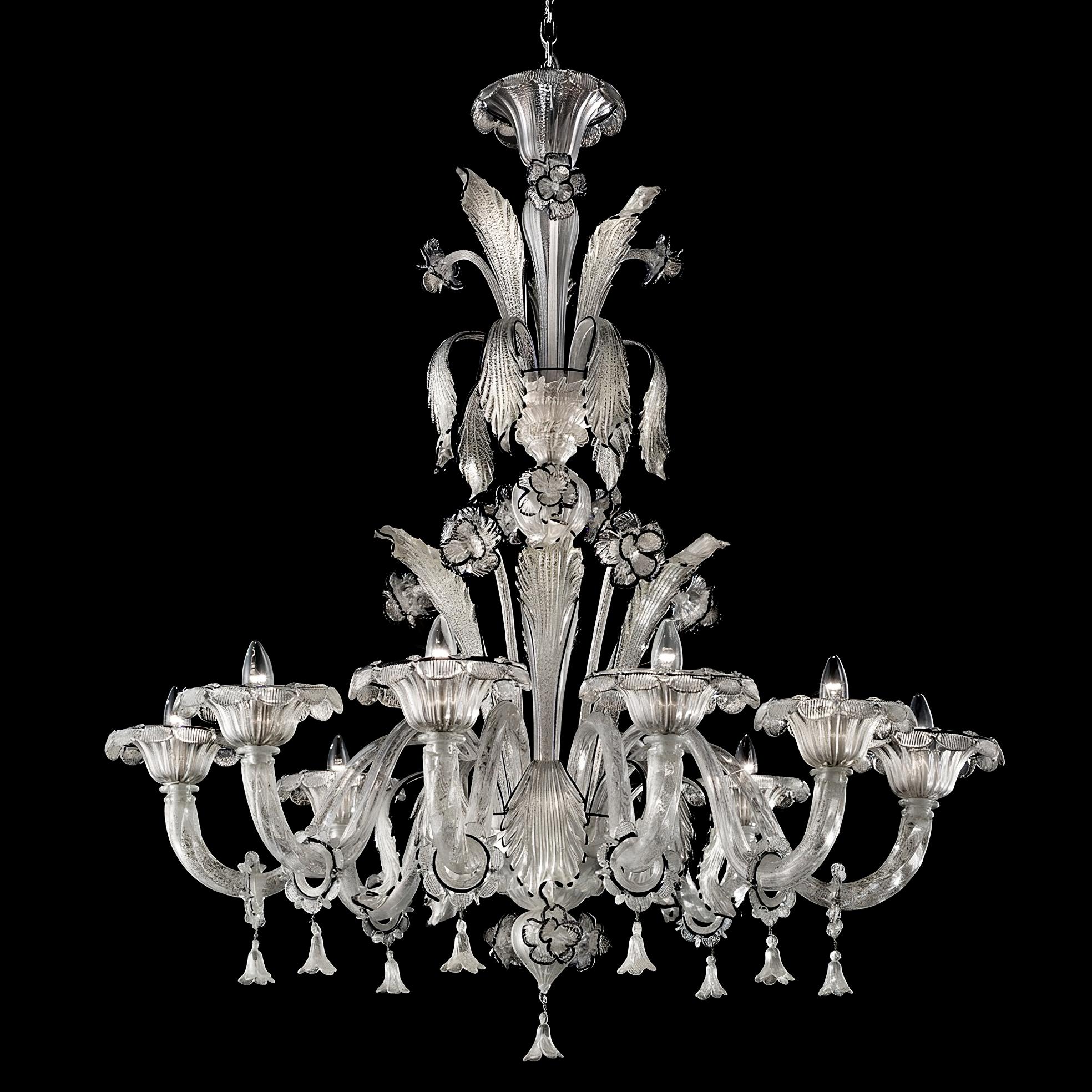 Paradiso white Murano glass chandelier Murano glass chandeliers – White Murano Chandelier