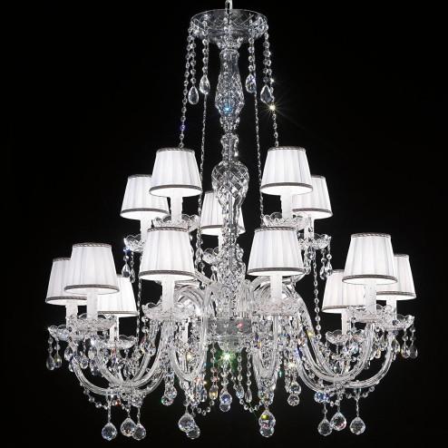 """""""Barbieri"""" lampara veneciana en cristal con pantallas"""