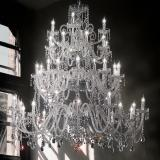 """Signorini"" large venetian crystal chandelier - 16+16+8+4 lights - transparent with Asfour venetian crystal"