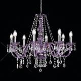 """Brindisi"" venetian crystal chandelier - 8 light - purple"