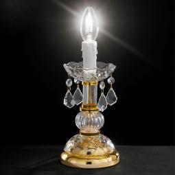 """Alfieri"" venetian crystal bedside lamp - 1 light - transparent with Asfour venetian crystal"
