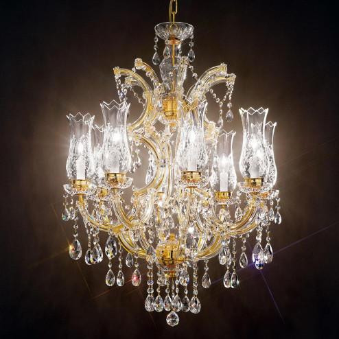 """""""Michelangelo"""" lampara veneciana en cristal"""