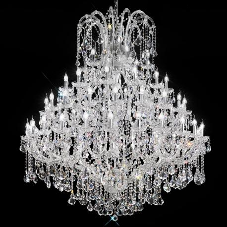 """""""Canaletto"""" venetian crystal chandelier - 60 lights - transparent with Asfour venetian crystal"""