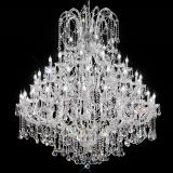 """Canaletto"" venetian crystal chandelier - 60 lights - transparent with Asfour venetian crystal"