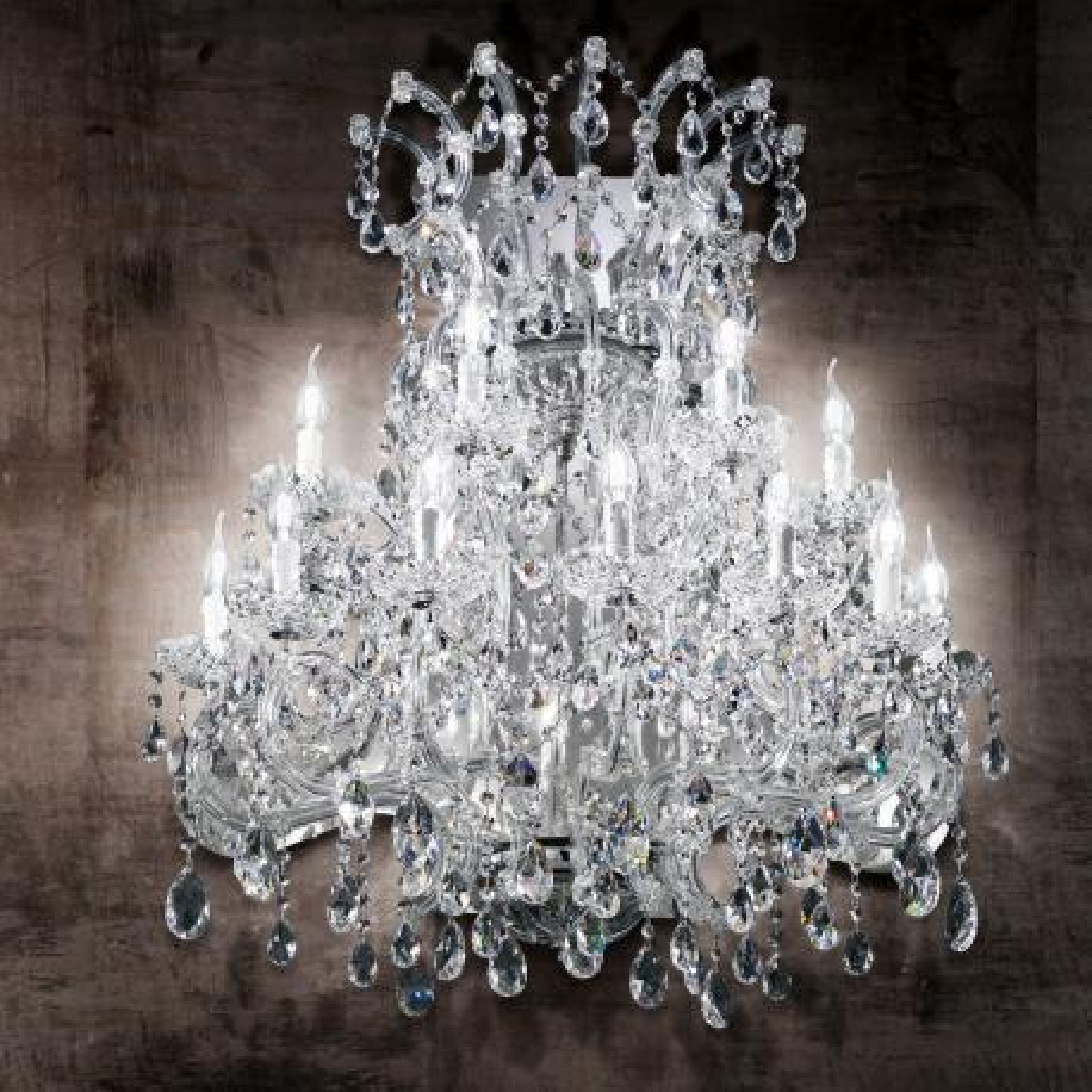 """Canaletto"" aplique veneciano de pared en cristal - 11 luces - transparente"
