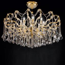 """Arcimboldo"" venetian crystal ceiling light - 8 lights - transparent with Asfour venetian crystal"