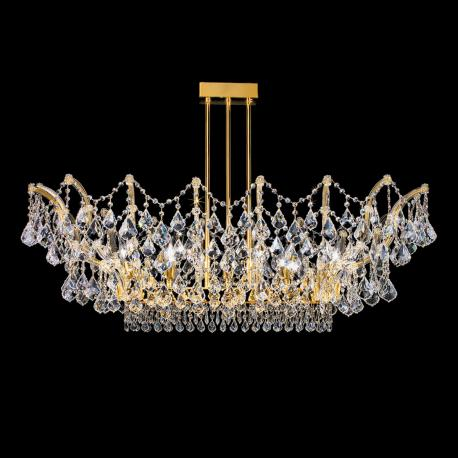 """Apicella"" venetian crystal ceiling light - 12 lights - transparent with Asfour venetian crystal"