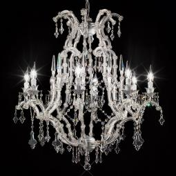"""Cattaneo"" venetian crystal chandelier - 8 lights - transparent with Asfour venetian crystal"