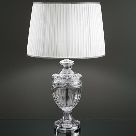 """Giotto"" venetian crystal table lamp - 1 light - transparent  with chrome hardware"