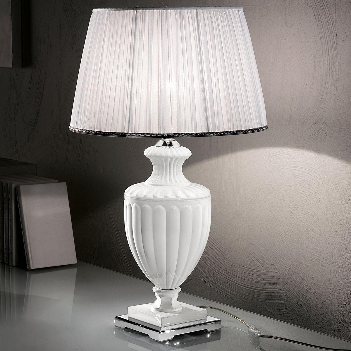 """""""Burri"""" lampe de table vénitienne en cristal - 1 lumière - blanc"""