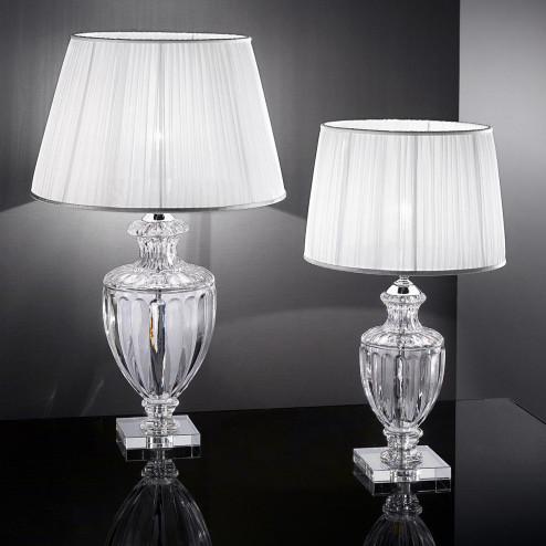 """Bellotti"" lampara de sobremesa veneciana en cristal - 1 luce - transparente"