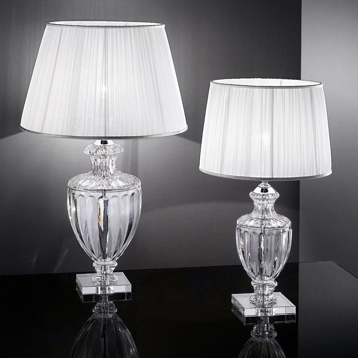 """""""Bellotti"""" lampe de table vénitienne en cristal - 1 lumière - transparent"""