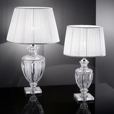 """Bellotti"" venetian crystal table lamp - 1 light - transparent"