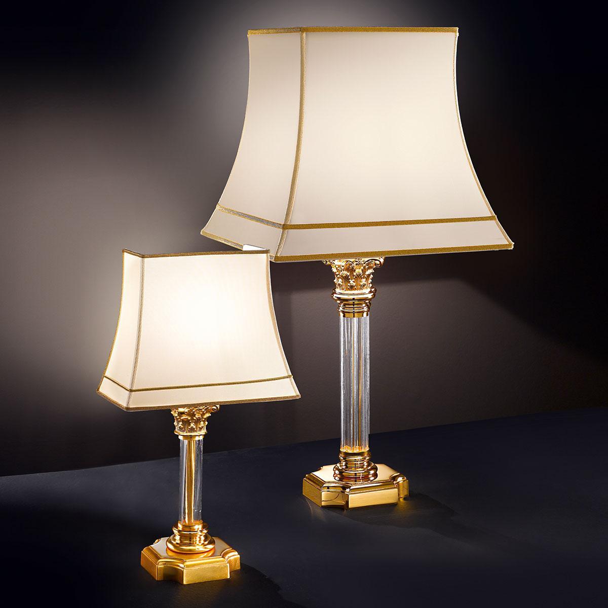 """""""Angelico"""" lampe de table vénitienne en cristal - 1 lumière - transparent"""