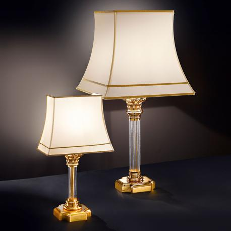 """Angelico"" venetian crystal table lamp - 1 light - transparent"