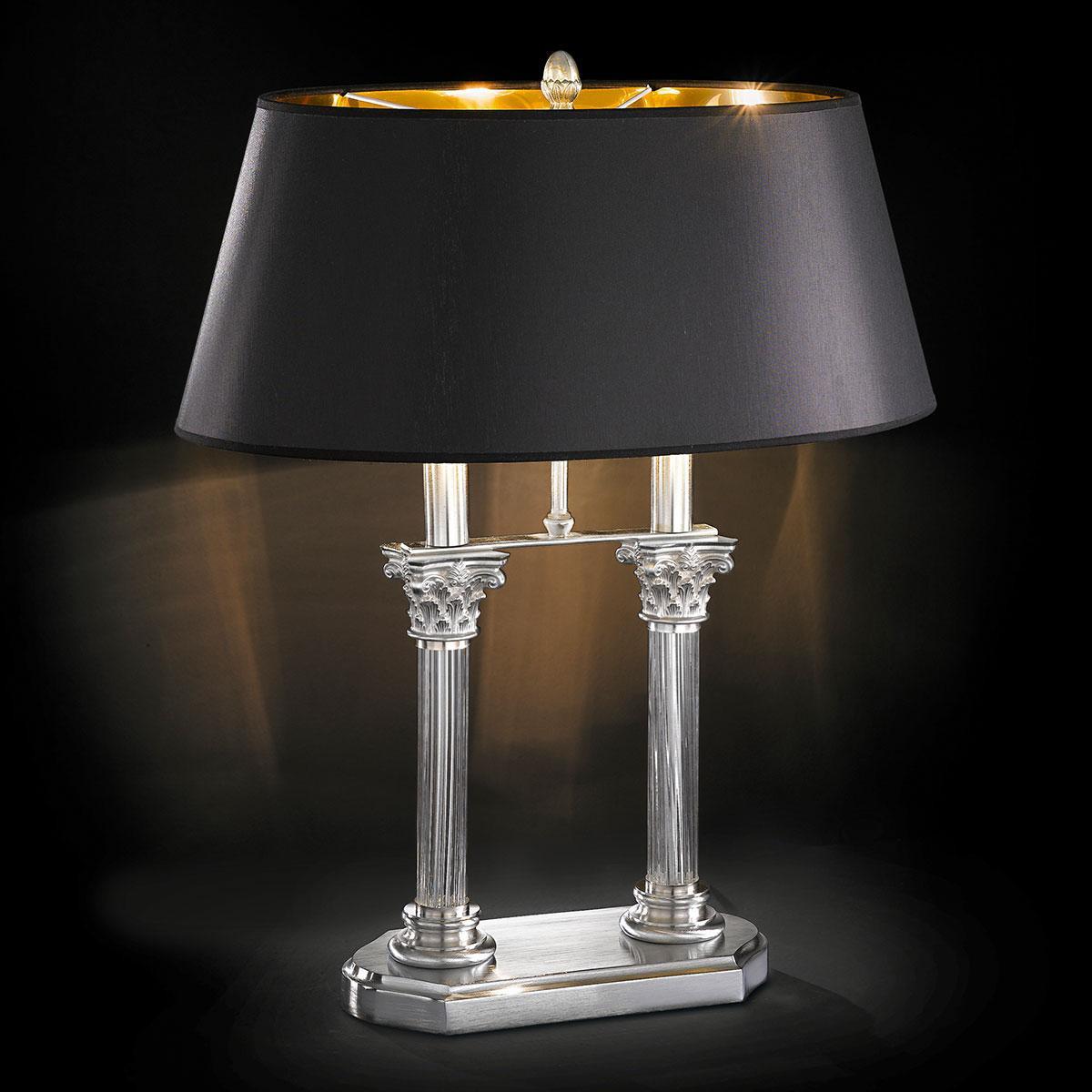 """""""Ghirlandaio"""" lampe de table vénitienne en cristal - 2 lumières - transparent"""