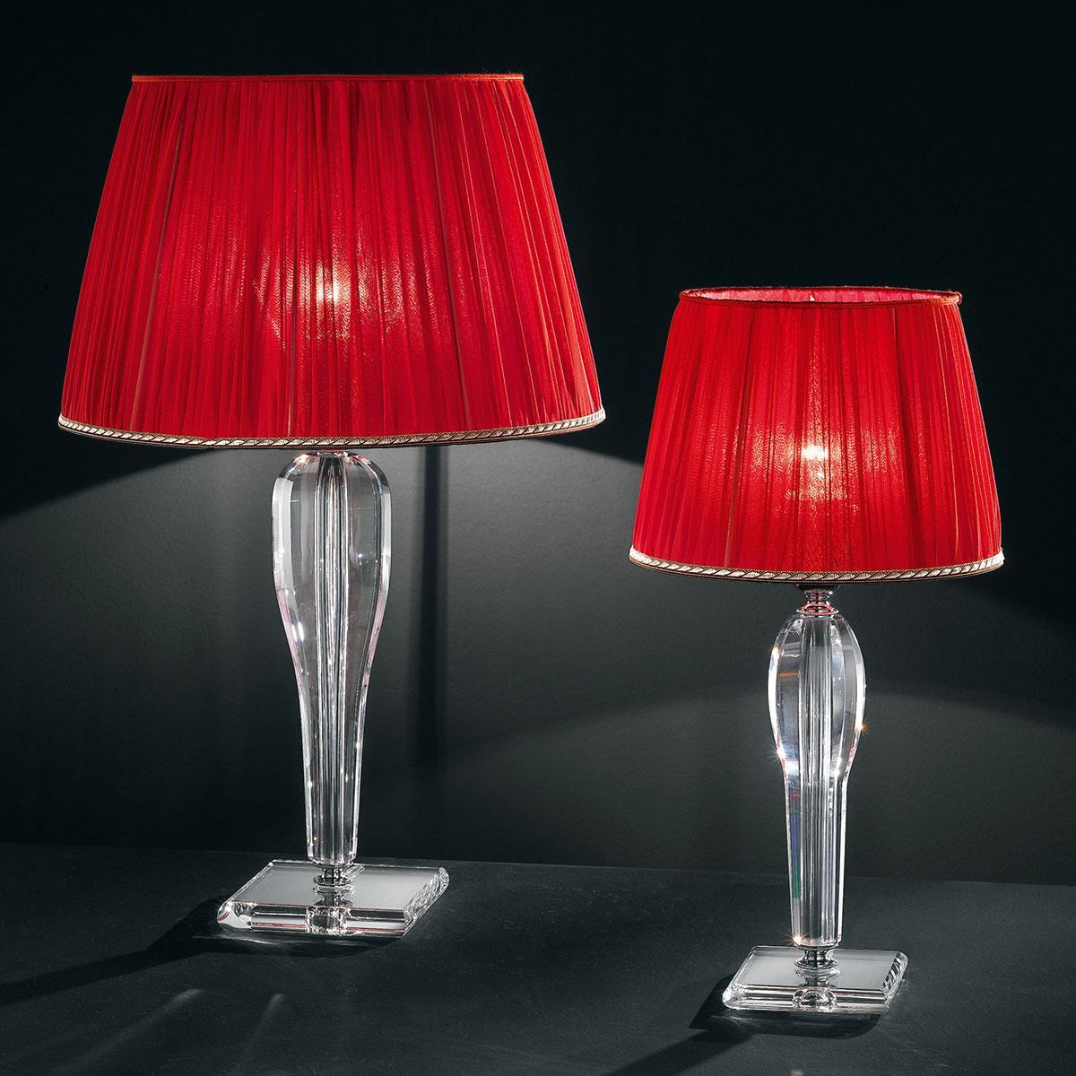 """""""Da Vinci"""" lampara de sobremesa veneciana en cristal - 1 luce - transparente"""