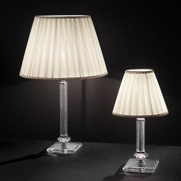 """Altamura"" venetian crystal table lamp - 1 light - transparent"