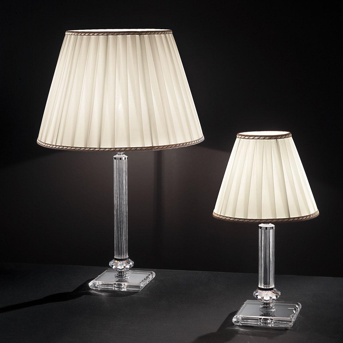 """Altamura"" venetian crystal table lamp - 1 light - transparent"