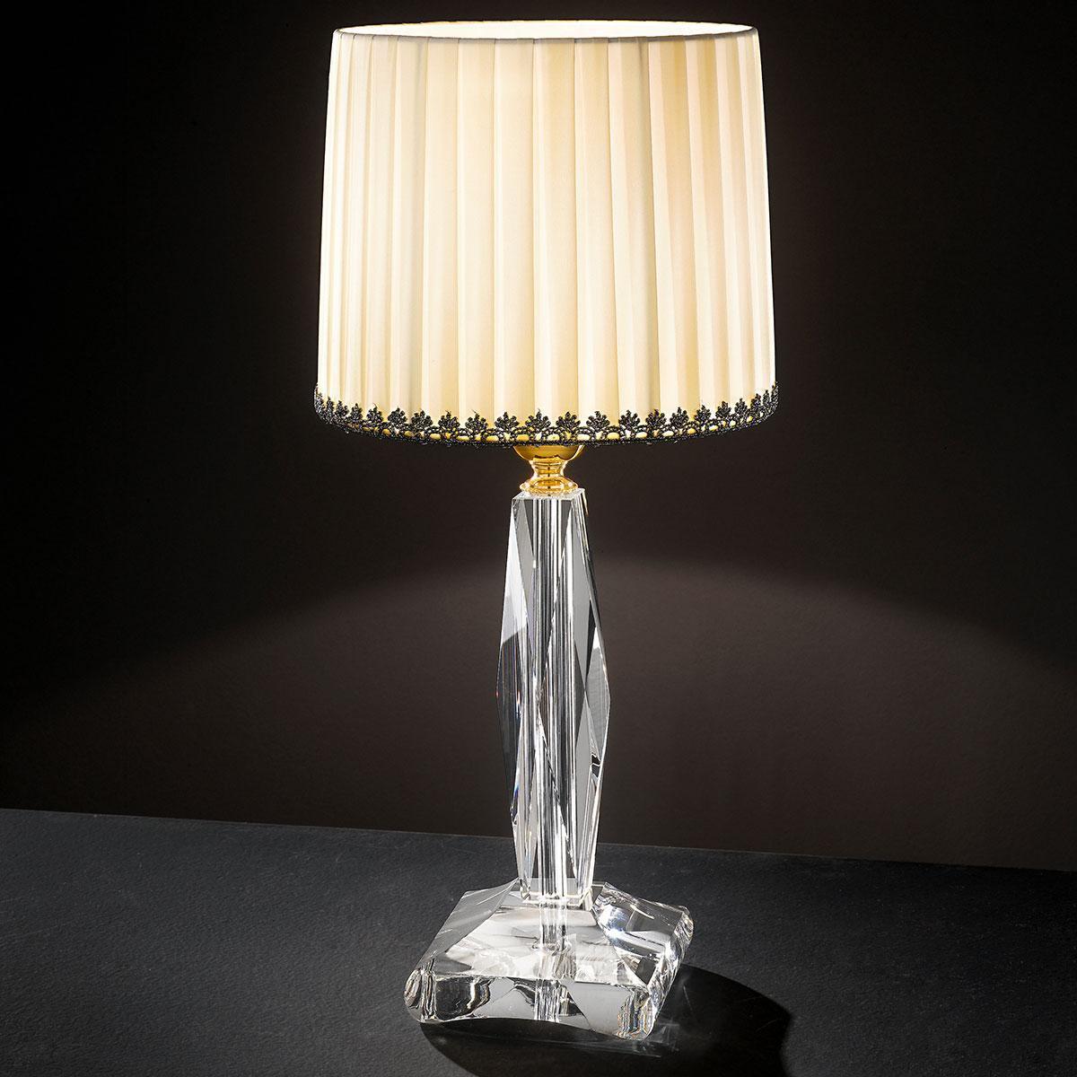 """""""Mazzolino"""" venezianischer kristall tischleuchte - 1 flammig - transparent"""