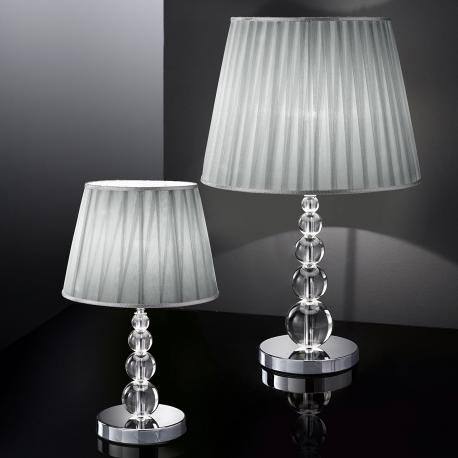 """Marianini"" venetian crystal table lamp - 1 light - transparent"