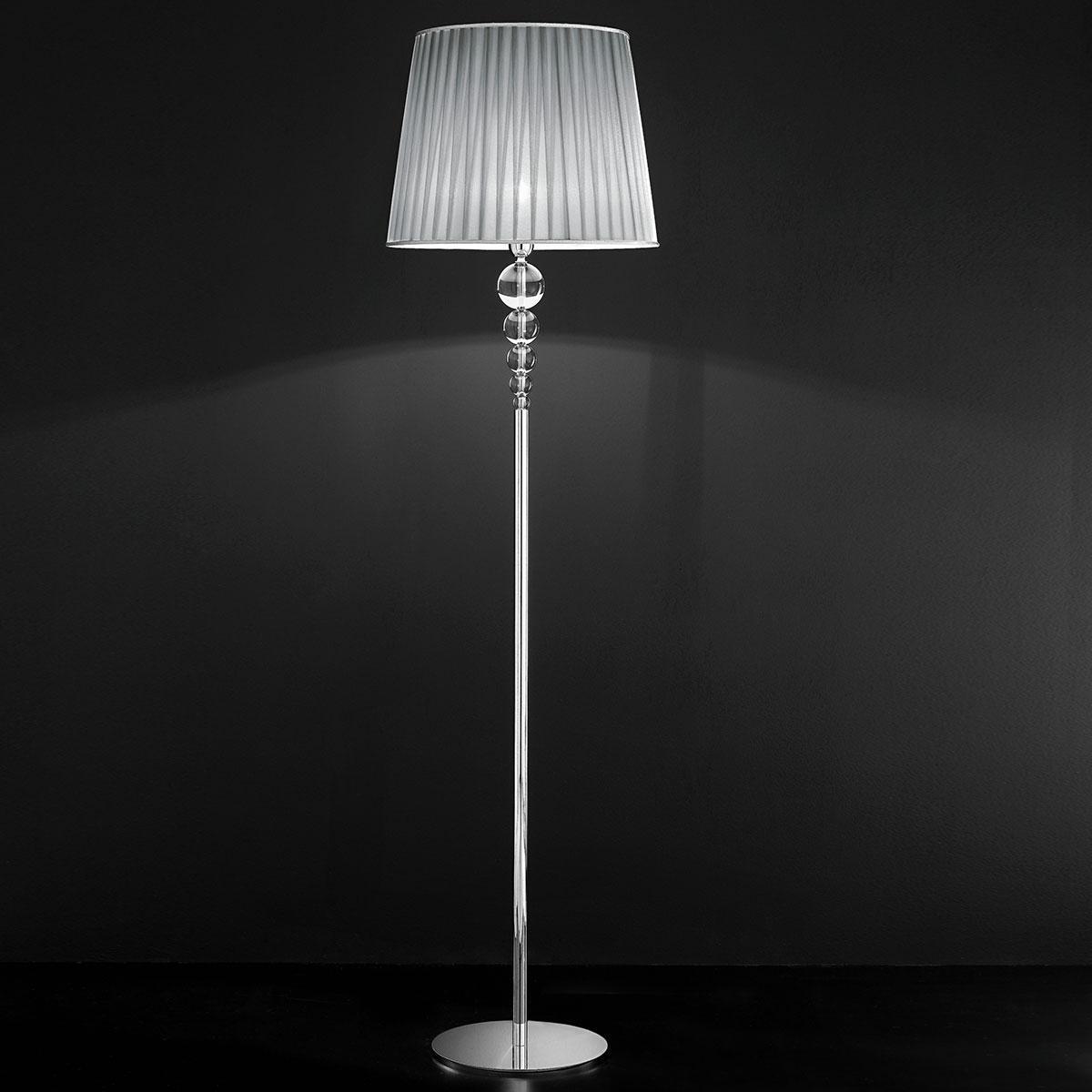 """Marianini"" lampara de pie veneciana en cristal - 1 luce - transparente"