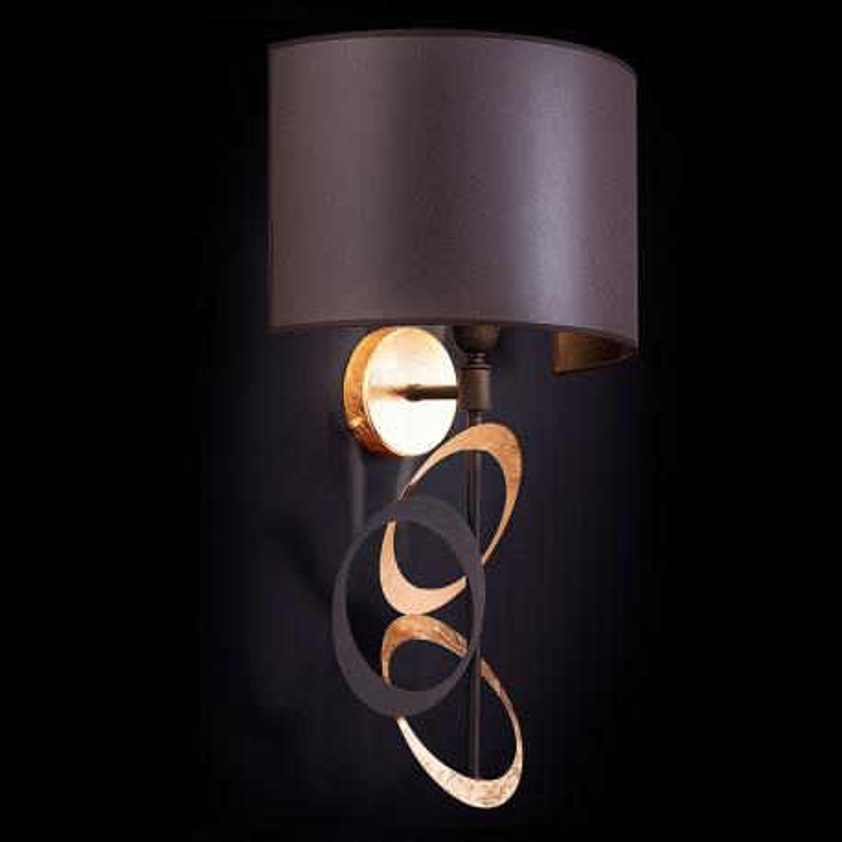 """Canuti"" venetian crystal wall sconce - 1 light - gold leaf"