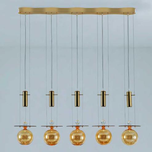 """Pendulum"" lámpara colgante en cristal de Murano"