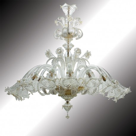 """Mirabile"" 16 lights oval shape Murano glass chandelier"