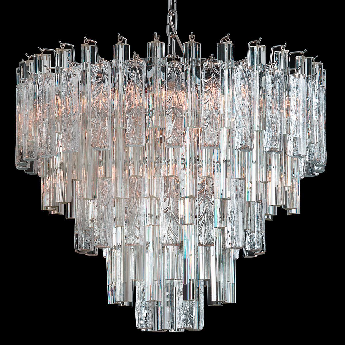 """""""Candy"""" lustre en cristal de Murano - 9 lumières - transparent"""