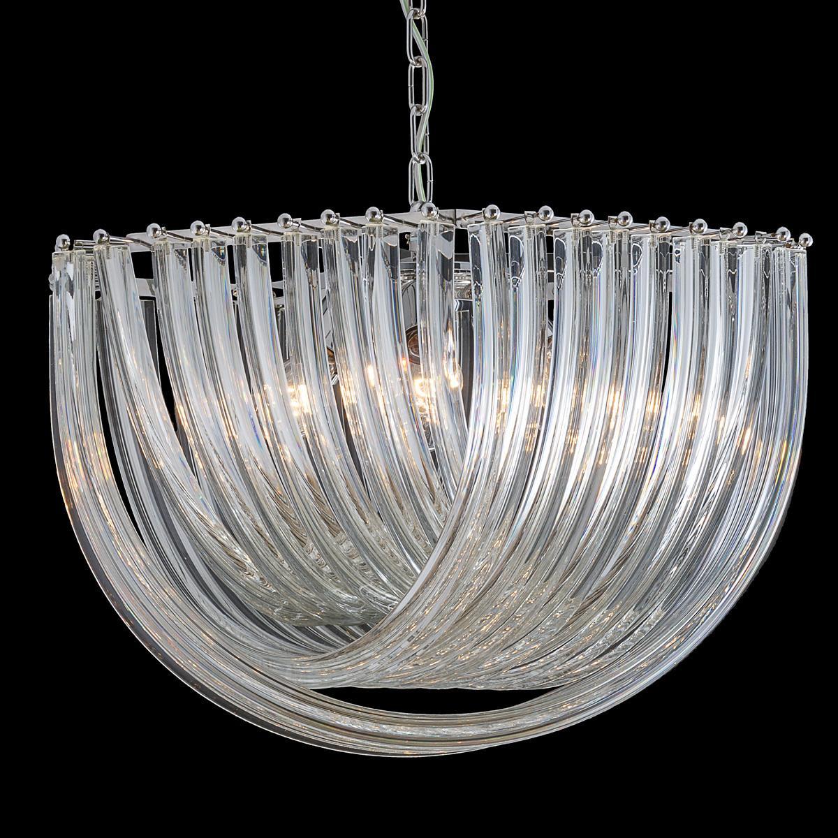 """""""Carrie"""" lustre en cristal de Murano  - 6 lumières - transparent"""