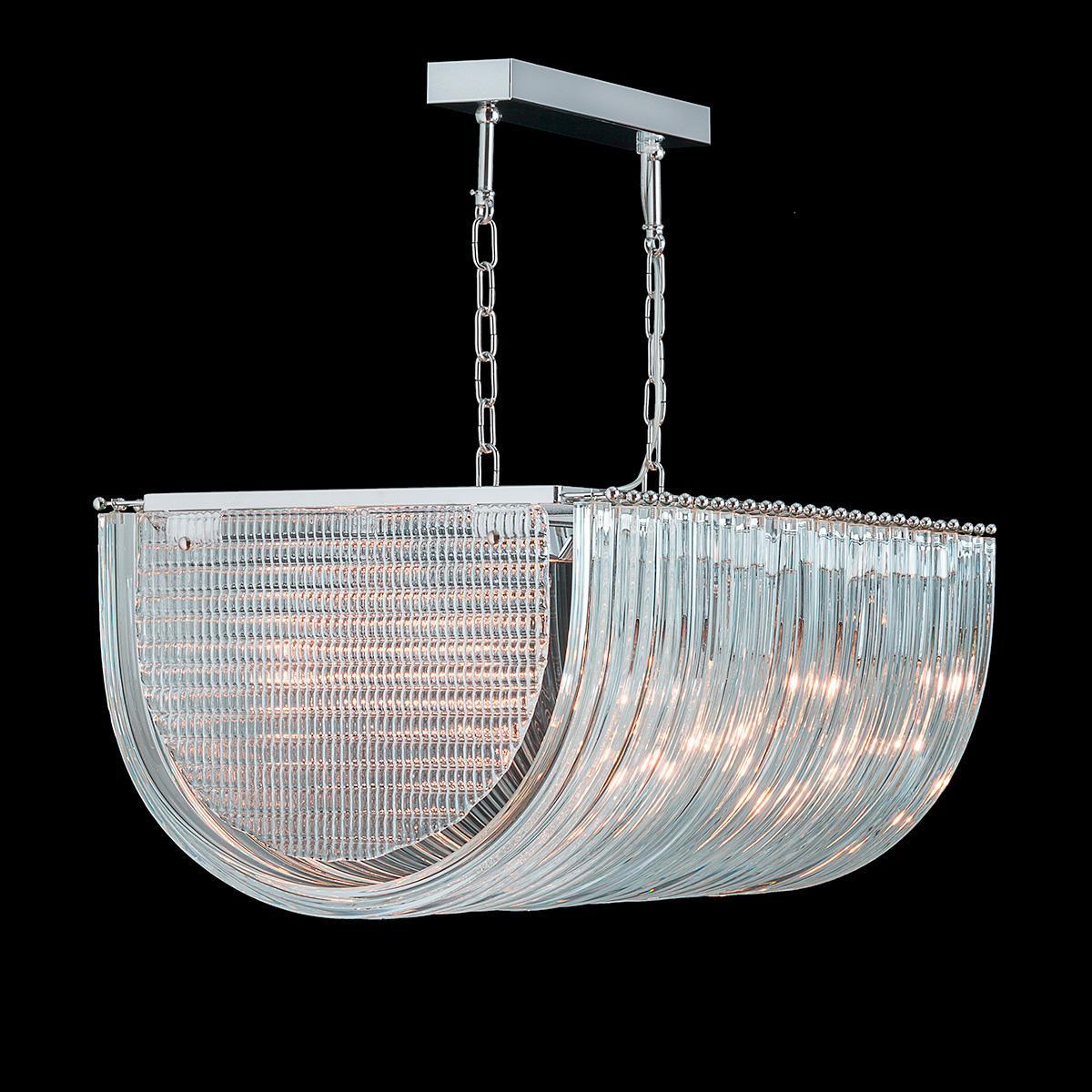 """""""Clarence"""" lampara de araña de Murano - 10 luces - transparente"""