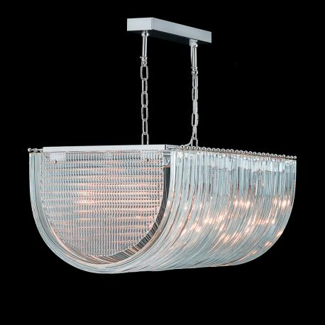 """""""Clarence"""" Murano glass chandelier - 10 lights - transparent"""