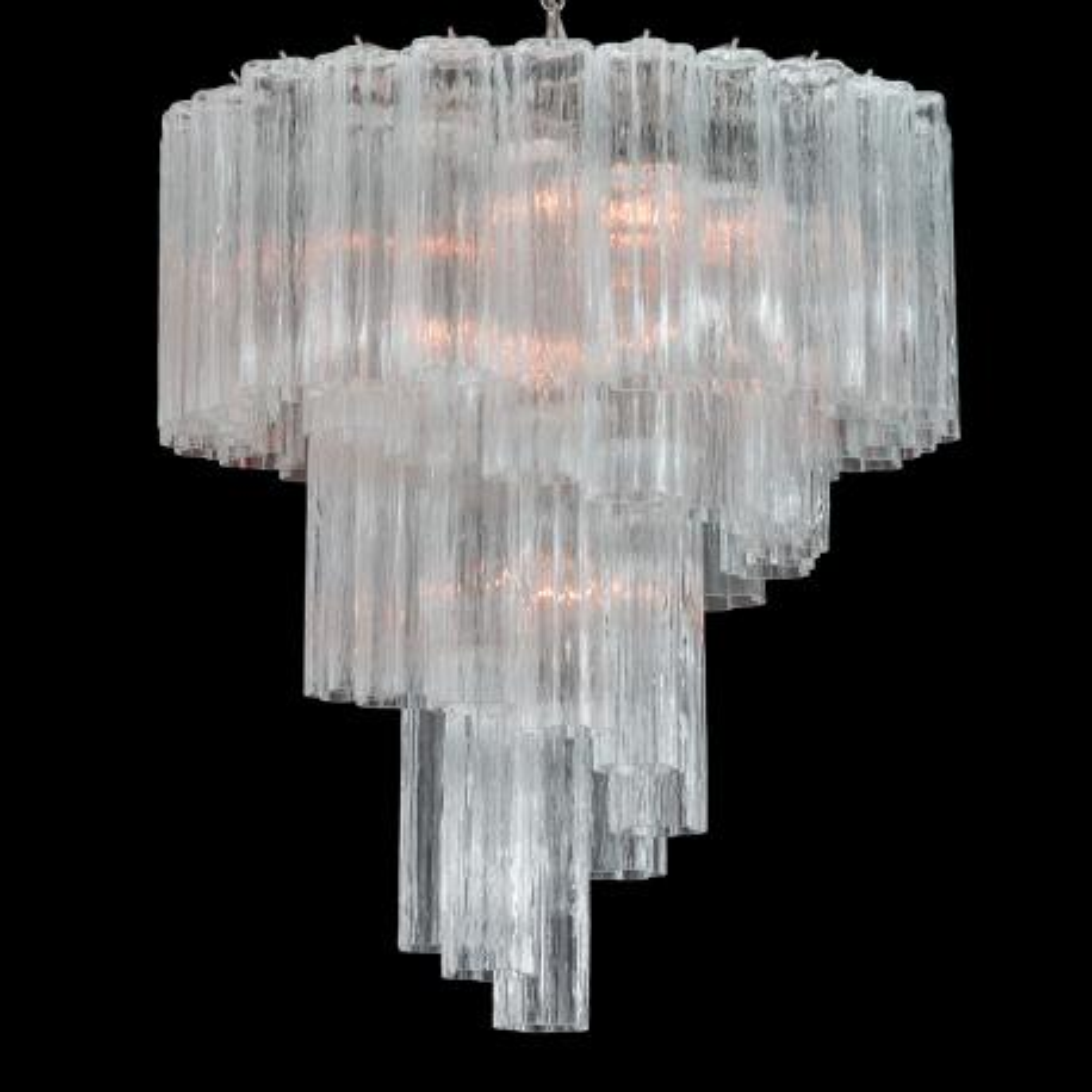 """Percy"" Murano glass chandelier - 7 lights - transparent"