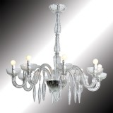 """Geremia"" transparent Murano glass chandelier"