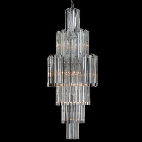 """""""Jackie"""" lustre en cristal de Murano - 10 lumières - transparent"""