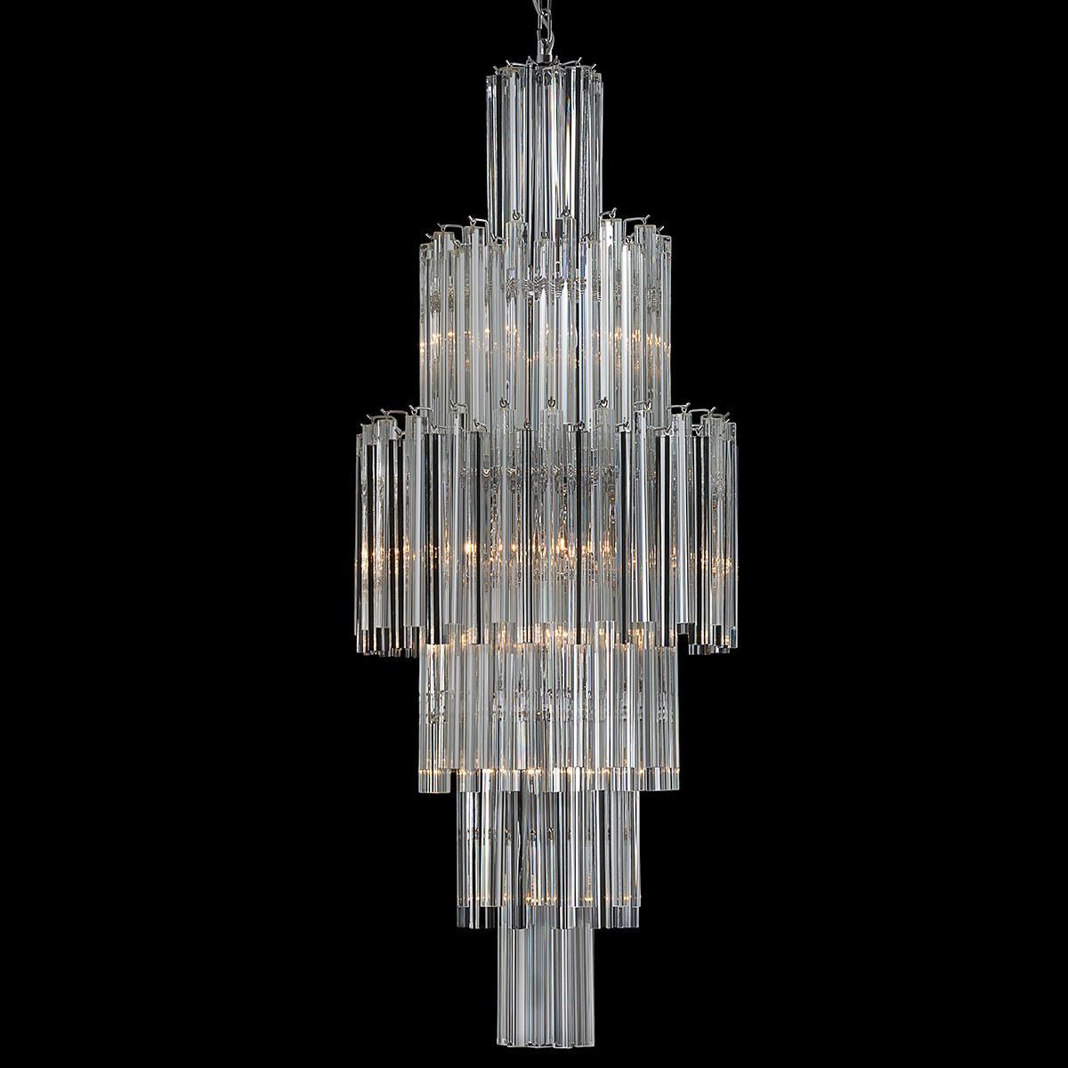 """Jackie"" lampara de araña de Murano - 10 luces - transparente"