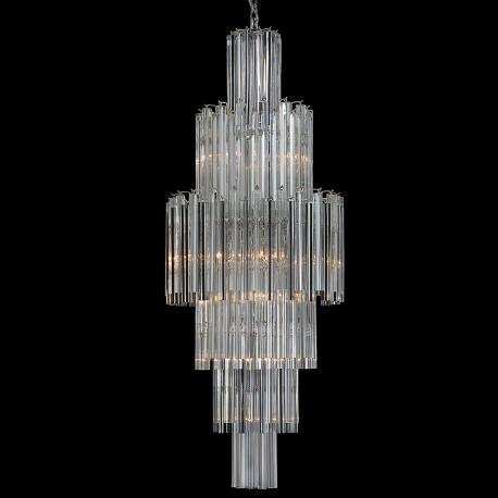 """Jackie"" Murano glass chandelier - 10 lights - transparent"