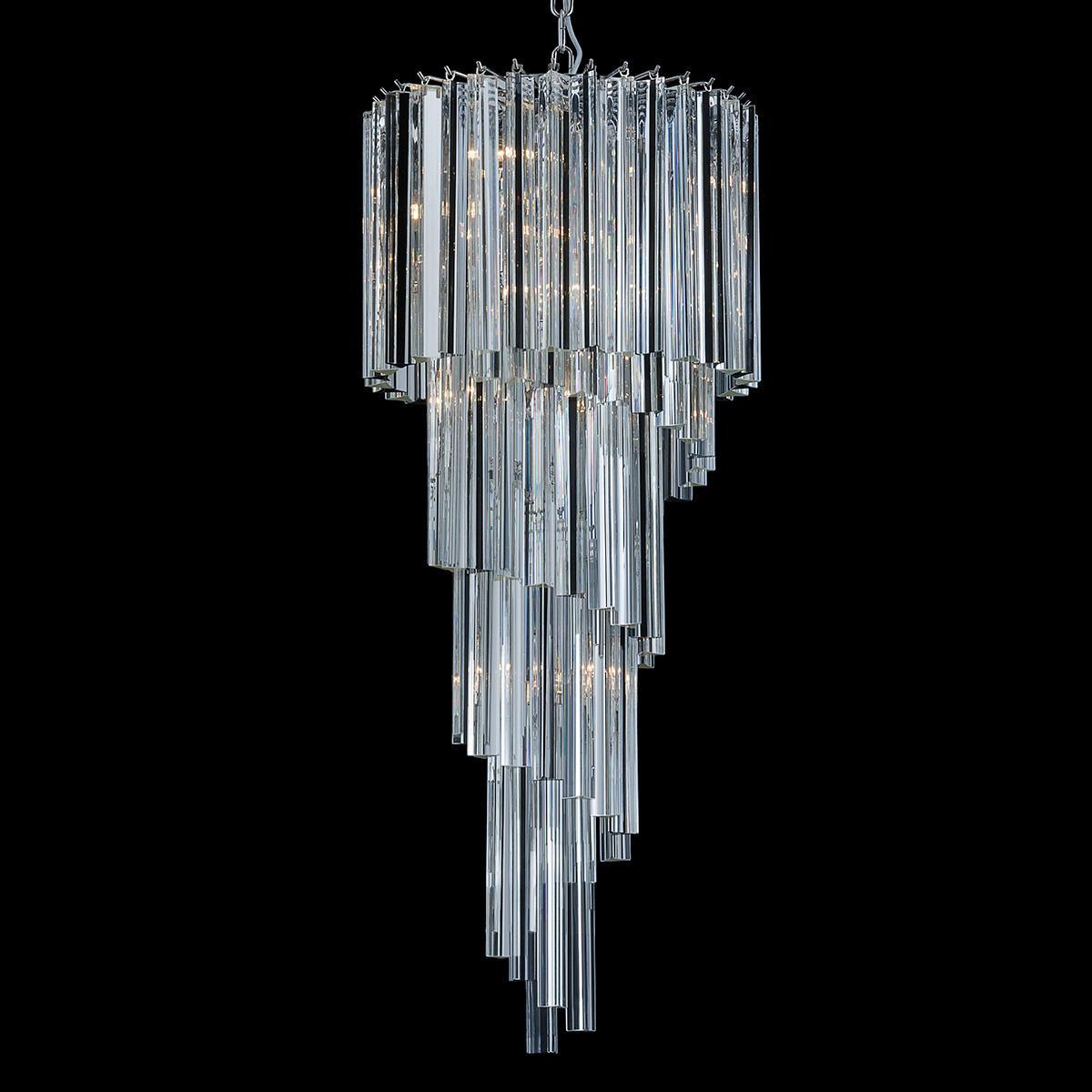 """""""Grace"""" lustre en cristal de Murano - 8 lumières - transparent"""